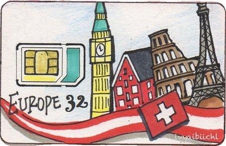 Jason'sTrip傑旅通訊-歐洲32國通用上網預付卡
